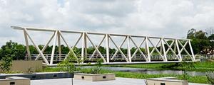 IIM Tetrahedron Steel bridge